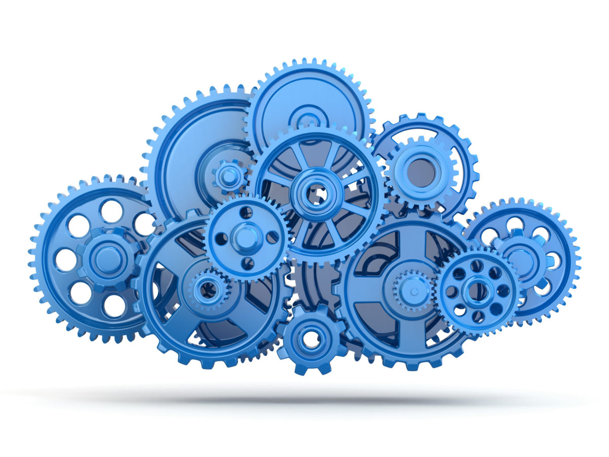 Gears. Cloud computing.
