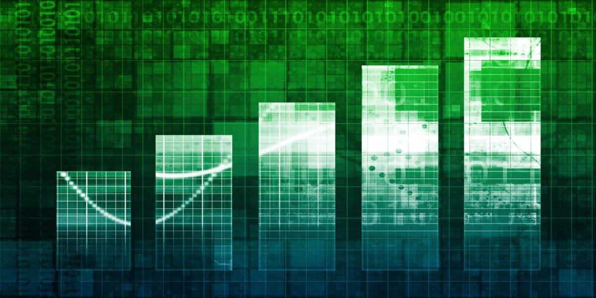 Digital Analytics Concept with Bar Chart Graph Art