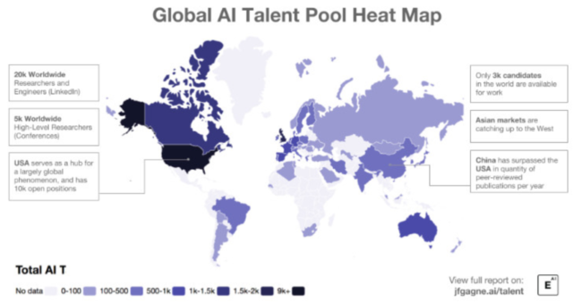 Global AI Talent Pool Heat Map