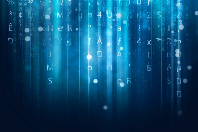 computer data stream background