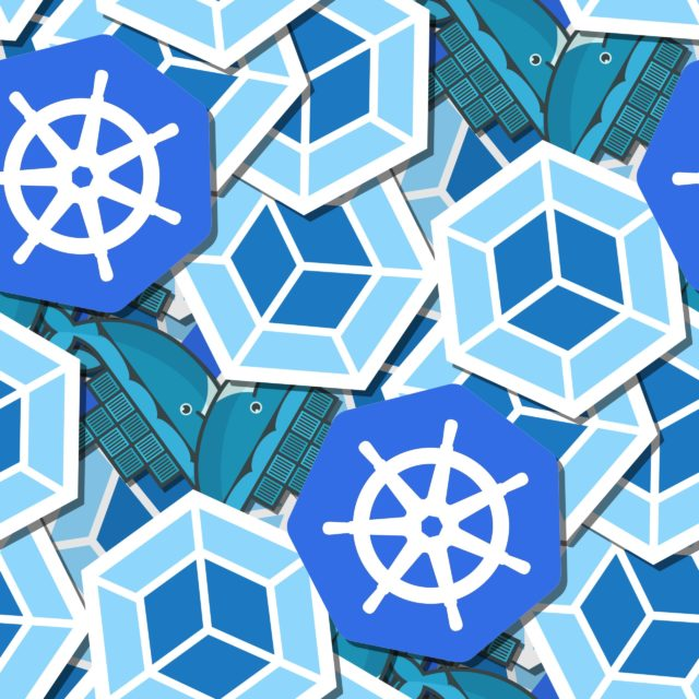 Seamless pattern with K8s, Docker, Webpack