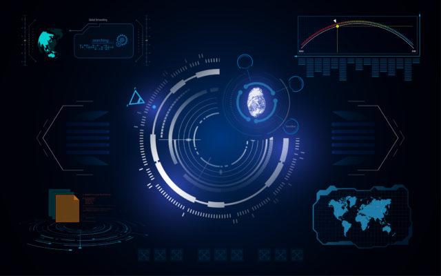 HUD UI interface tech digital security concept template
