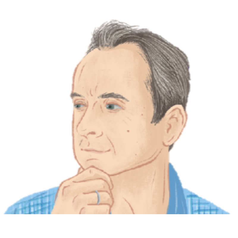 Jon Collins Side View – Illustration Transparent Background