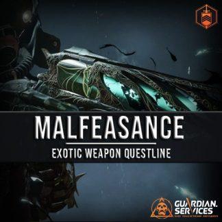 Destiny Exotic Weapon Quest Malfeasance