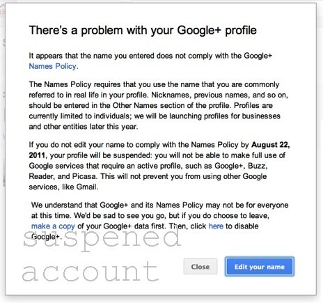 How to restore your suspended Google plus account?