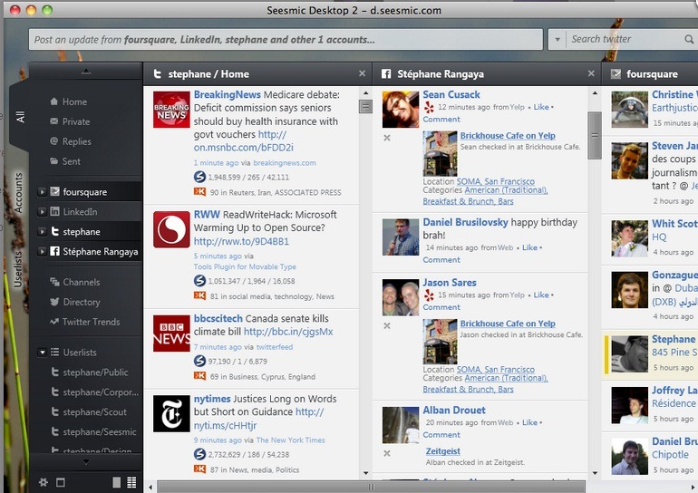 How to post to multi social network simultaneously?