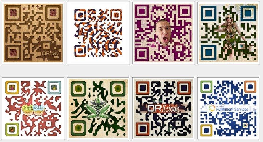 Create customized designer QR codes
