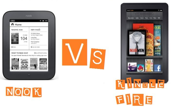 Kindle vs Nook :The E-reader wars are upon us