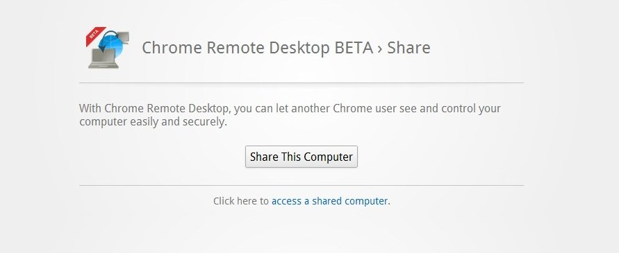 Control remote computer with chrome remote assistance.