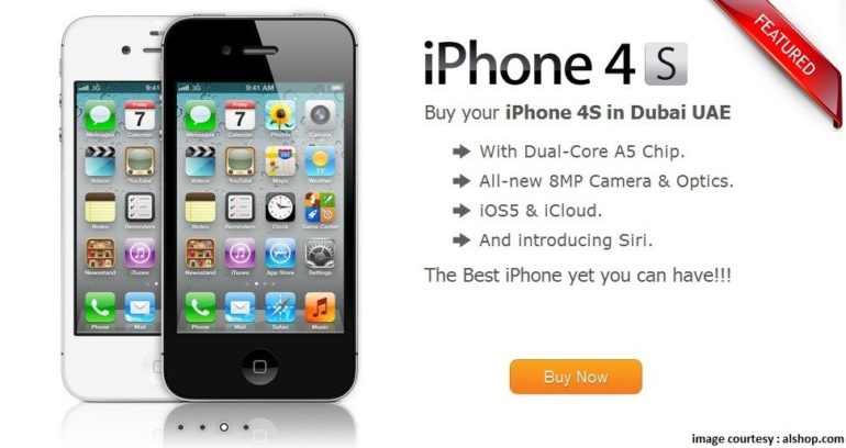 Iphone 4s launches in Dubai but with a pricey tag.