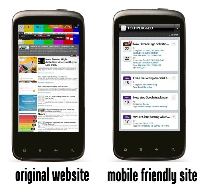 Turn your Wordpress blogs and websites mobile friendly.