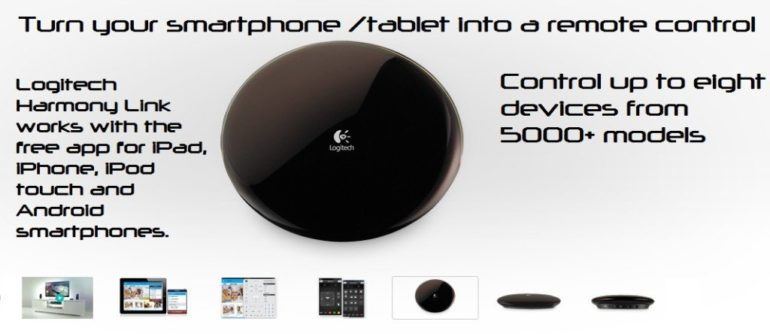 Turn your smartphone or tablet to a universal remote control.