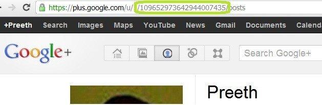 google + profile id