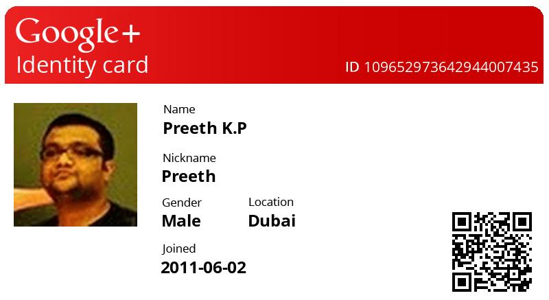 google id card