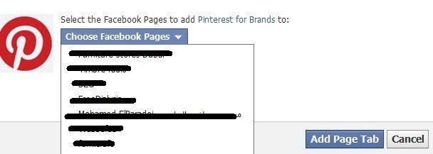 Add Pinterest layout on your Facebook Fan page.