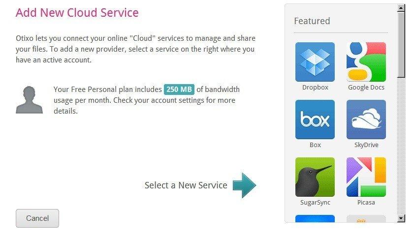 add a cloud service