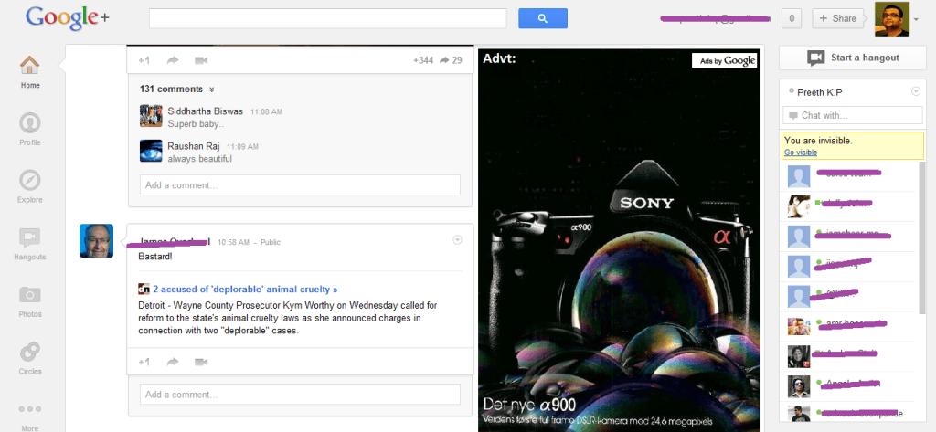 How to fix the Google plus #whitespaces ?