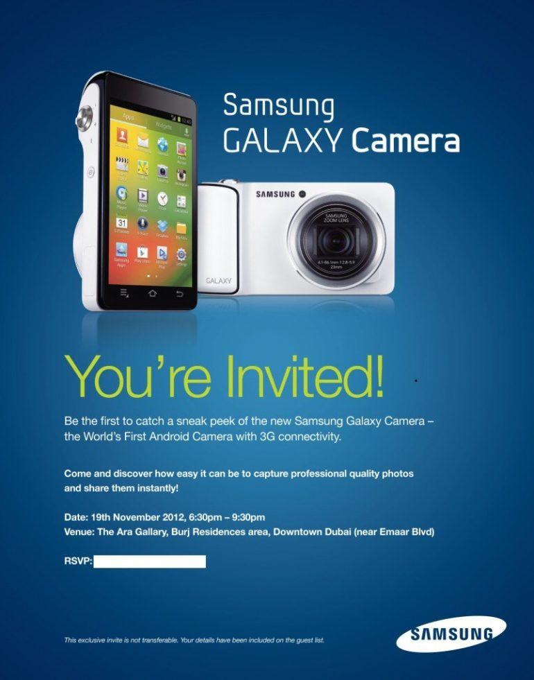 Samsung Galaxy Android Camera and Windows 8 powered Samsung ATIV smart PC launching this week in Dubai.