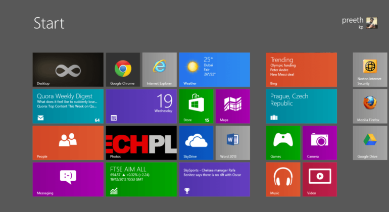 Whats the new thingy that's running on PC's laptops and tablets? Windows 8