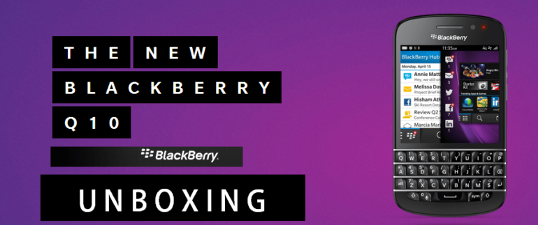 BlackBerry Q10 Unboxing And First Impressions [ Video ]