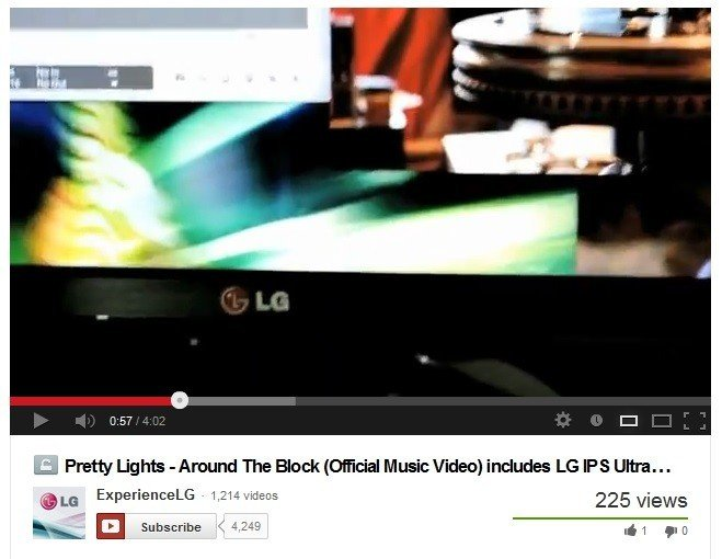 "LG COLLABORATES WITH PRETTY LIGHTS   ON MUSIC VIDEO ""AROUND THE BLOCK"""