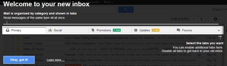 How to activate the new Gmail Inbox Now.