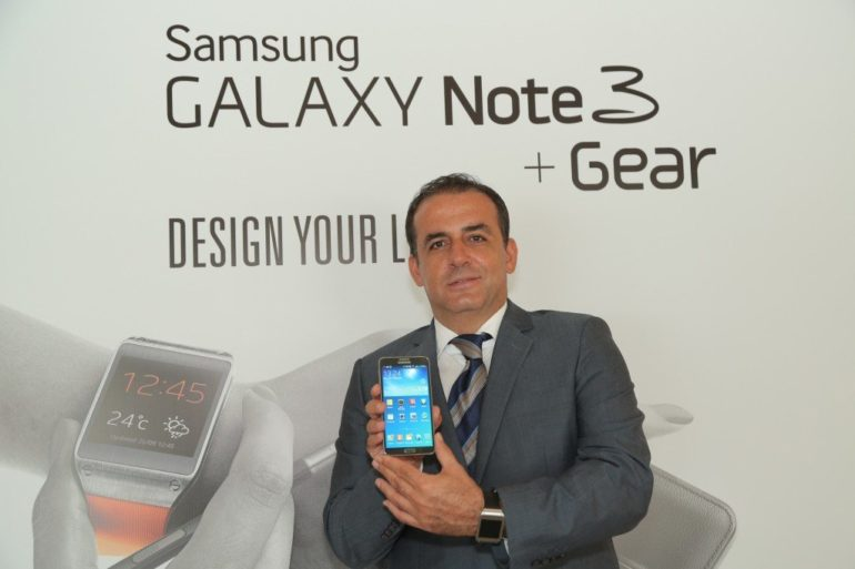 Samsung Galaxy Note3 and Galaxy Gear launched in Dubai.