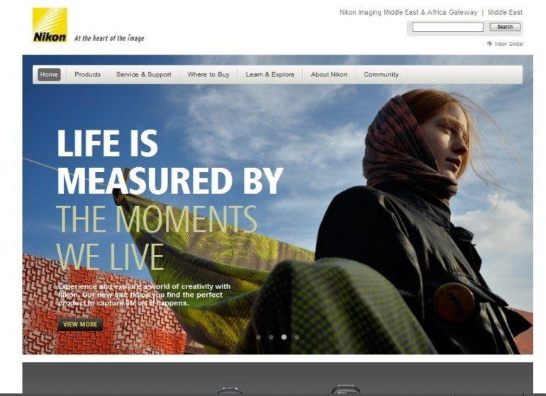 Nikon launches redesigned consumer website.