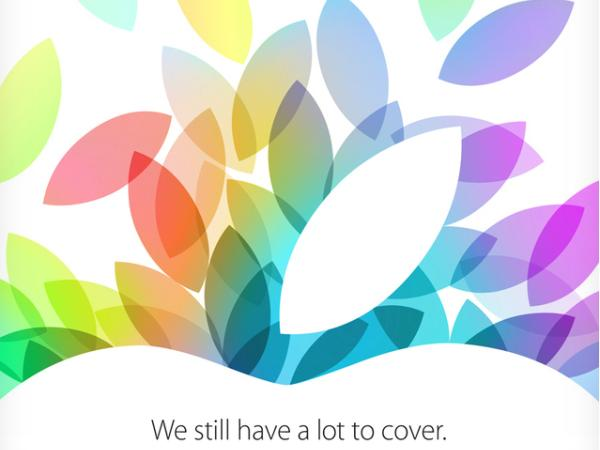 The Next Generation iPad and iPad Mini to be Unveiled 22nd October.