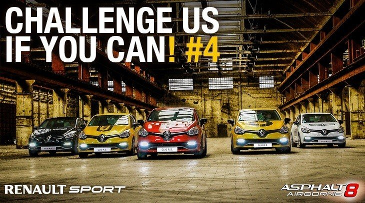 CLIO R.S. 200 EDC TO STAR IN FIRST UPDATE TO THE ASPHALT 8: AIRBORNE VIDEO GAME