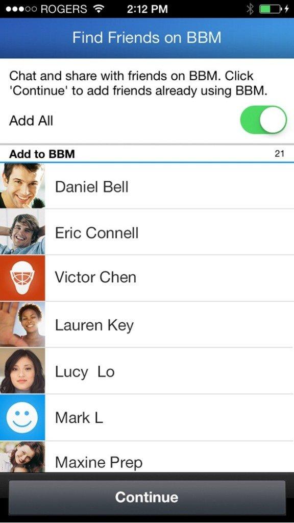 bbm find friends update