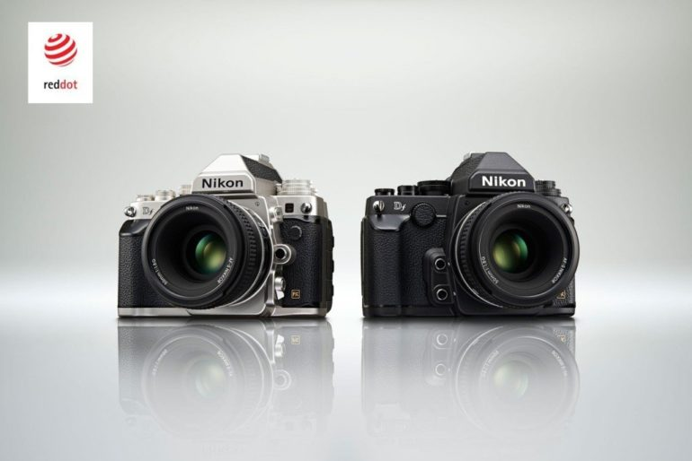 """Three Nikon products receive the """"red dot award: product design 2014 Nikon Df and Nikon D5300, and the ACULON T51 binoculars."""