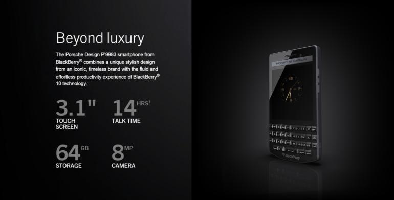 Blackberry Introduces Porsche Design P'9983 Graphite Smartphone .