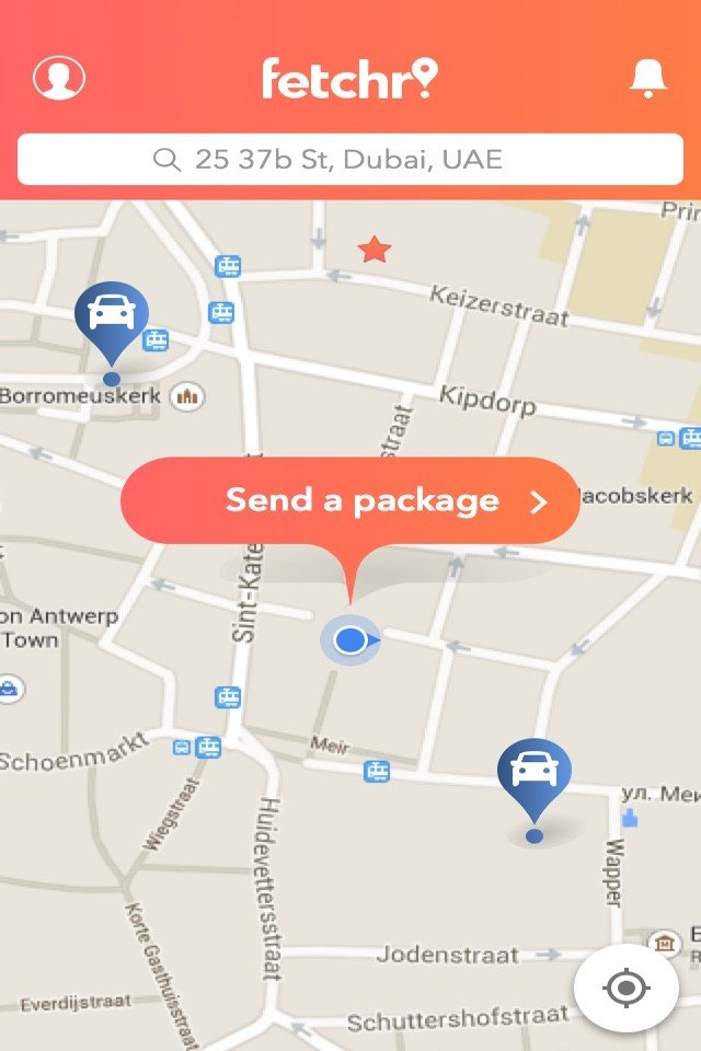 Peer to peer shipping becomes a snap with GPS enabled Fetchr app