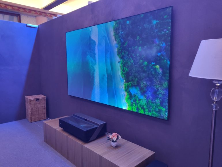 Hisense Debuts the 100-inch 4K UHD Laser TV.