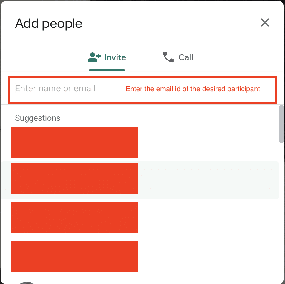 How to add people in Google Meet (Hangouts)