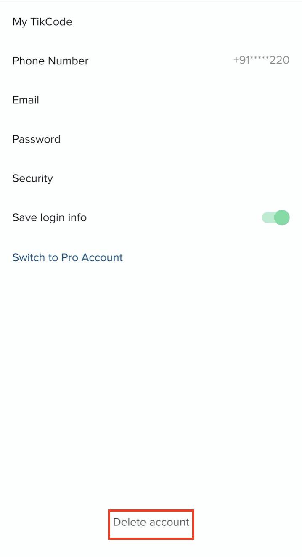 How to delete your Tik Tok account