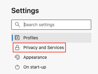 How to disable delete browsing history on Microsoft Edge