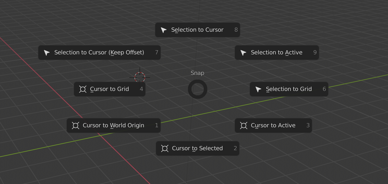 Blender 3D ပေါ်ရှိ cursor ကို reset လုပ်နည်း