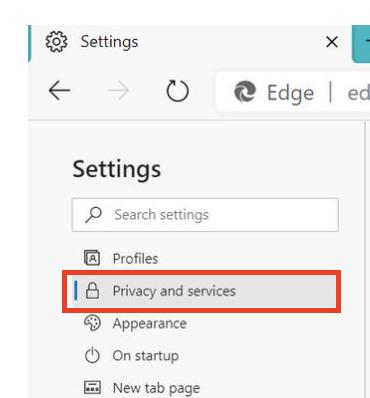 Microsoft Edge ပေါ်ရှိ cache ကိုရှင်းပစ်ပါ