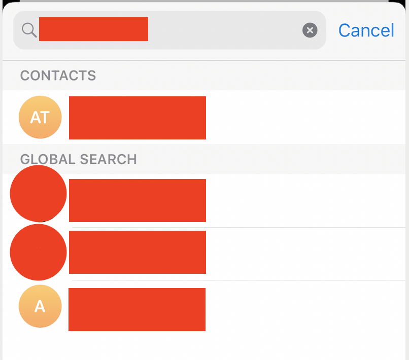 How to search for a contact on Telegram