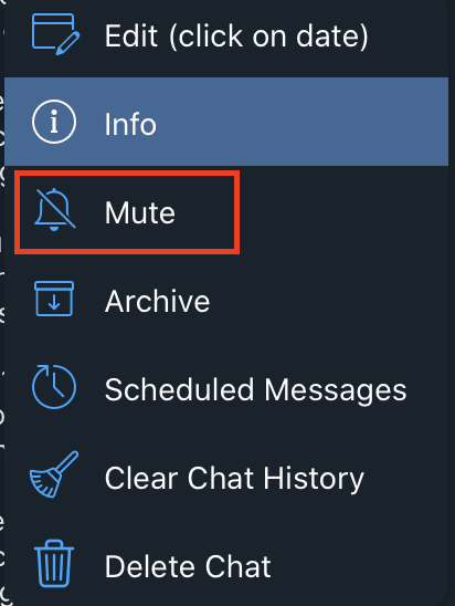 How to remove pop up notifications on Telegram