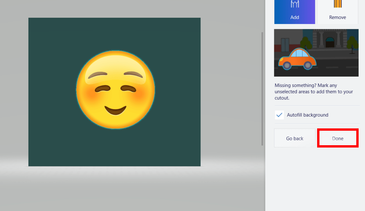 How to make Background Transparent on Paint 3D
