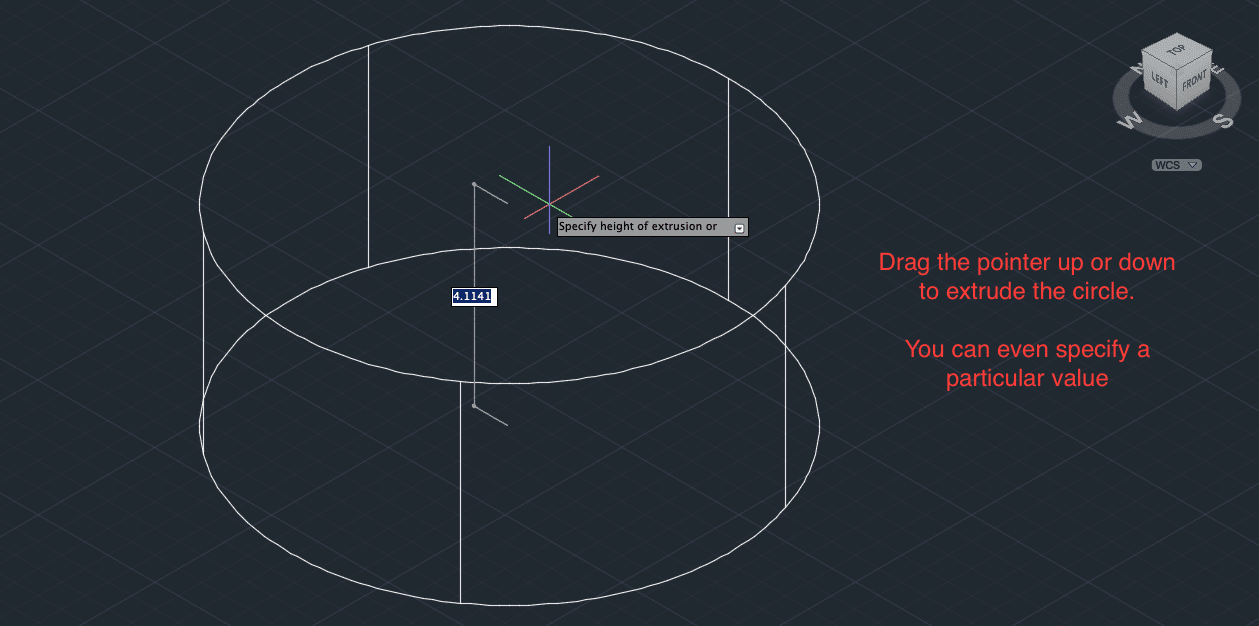 How to Extrude in AutoCAD?