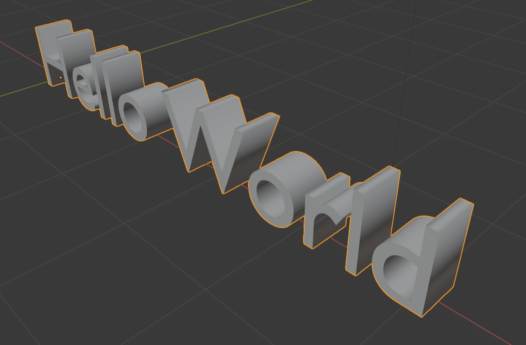 How to create 3D text using Blender 3D