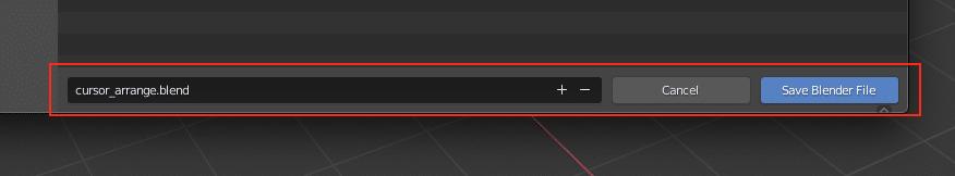 How to set the cursor on Blender 3D