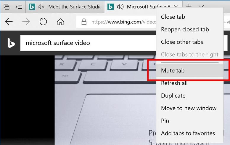 So schalten Sie den Microsoft Edge-Browser stumm