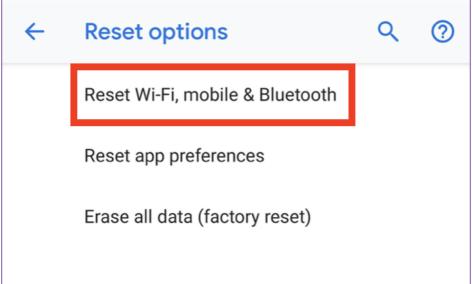 How to Reset network settings on Android and iOS