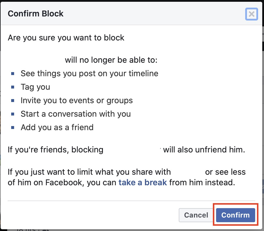 ဖေ့စ်ဘွတ်ခ်တွင်အသုံးပြုသူတစ် ဦး အားမည်သို့ပိတ်ဆို့ရမည်နည်း