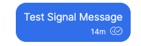 What does two tick marks mean on the Signal Messaging app